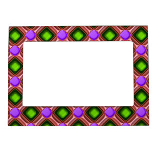 Purple Gem Pattern Magnetic Frame