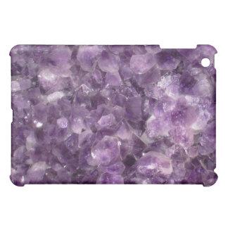 Purple gemstome crystal amethyst bling iPad case
