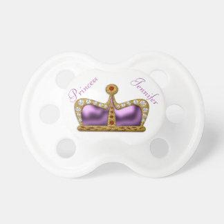 Purple Gemstone Crown Pacifier