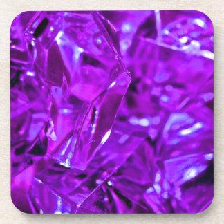 Purple gemstone crystal amethyst coaster