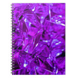 Purple gemstone crystal amethyst spiral notebooks