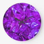 Purple gemstone crystal amethyst wall clock