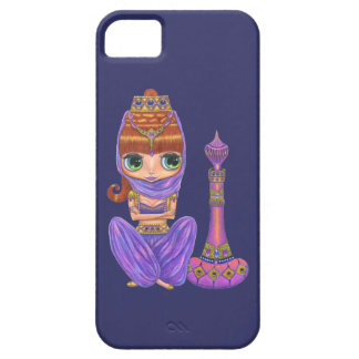 Purple Genie and Magic Bottle with Jewels iPhone 5 Covers