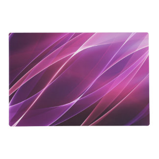 Purple Geometric Abstract Laminated Placemat