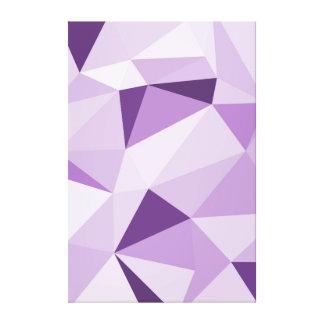 Purple Geometric Abstract Triangles Canvas Print
