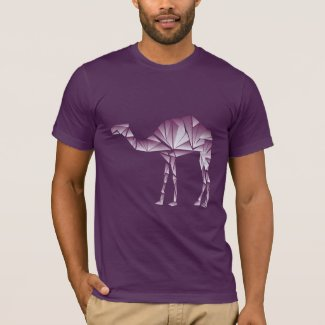 purple geometric camels at night T-Shirt