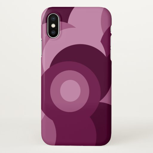 purple geometric design iPhone x case