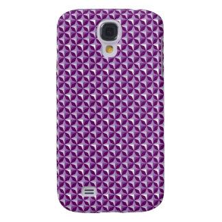 Purple Geometric Designs Galaxy S4 Cover