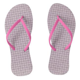 Purple Geometric Flip Flops
