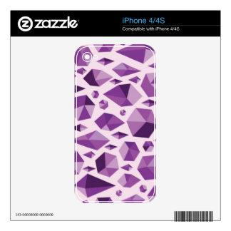Purple geometric jewel shapes iPhone 4 decal