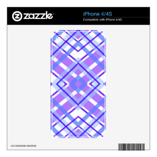 Purple Geometric Kaleidoscope pattern iPhone 4 Decals