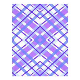 Purple Geometric Kaleidoscope pattern Letterhead