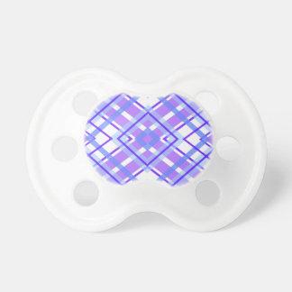 Purple Geometric Kaleidoscope pattern Pacifier