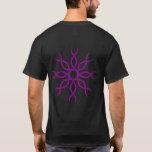 Purple Geometric knot-work back design 4 T-Shirt