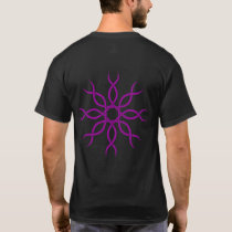 Purple Geometric knot-work back design 4 T-Shirt