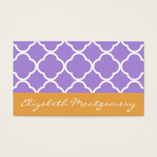 Purple Geometric Modern Appointment Business Card