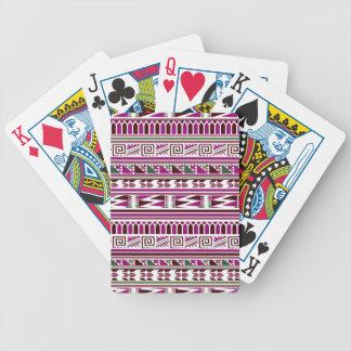 Purple Geometric Modern Aztec Tribal Print Pattern Bicycle Playing Cards