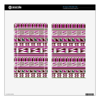 Purple Geometric Modern Aztec Tribal Print Pattern Decals For Kindle Fire