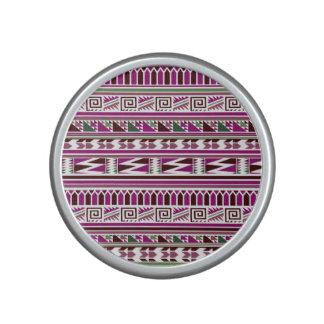 Purple Geometric Modern Aztec Tribal Print Pattern Speaker