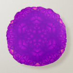 purple geometric pattern based on epitrochoid round pillow
