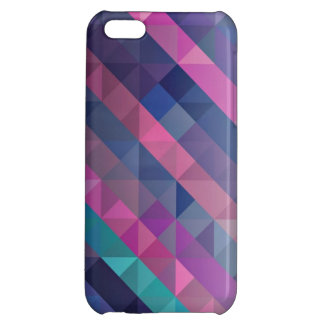 Purple Geometric Pattern Cover For iPhone 5C