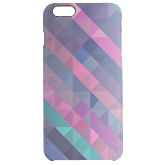 Purple Geometric Pattern Uncommon Clearly™ Deflector iPhone 6 Plus Case