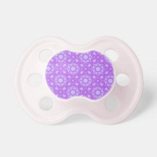 Purple Geometric Pattern Pacifiers