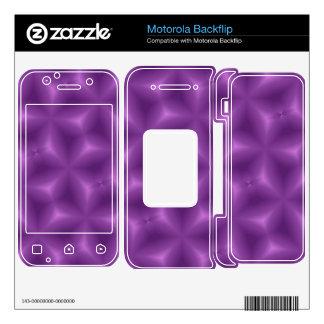 Purple geometric pattern motorola backflip skin