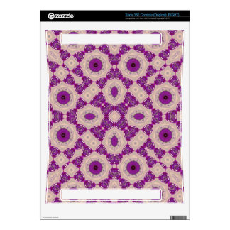 Purple Geometric Pattern Xbox 360 Console Skin
