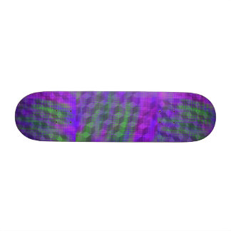 Purple geometric skateboard