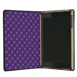 Purple Geometric Square, Circle Pattern iPad Mini Retina Covers