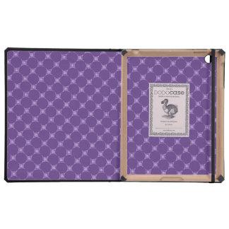 Purple Geometric Square, Circle Pattern Cases For iPad