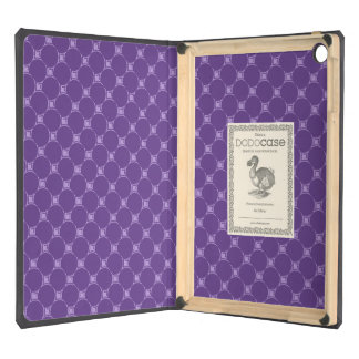 Purple Geometric Square, Circle Pattern Cover For iPad Air