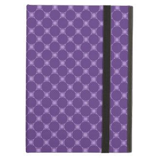 Purple Geometric Square, Circle Pattern iPad Air Cover
