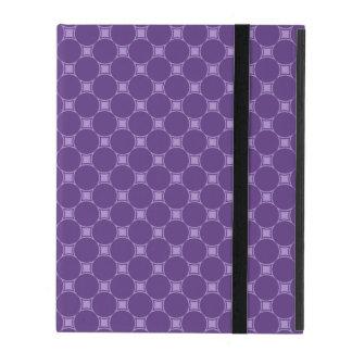 Purple Geometric Square, Circle Pattern iPad Covers