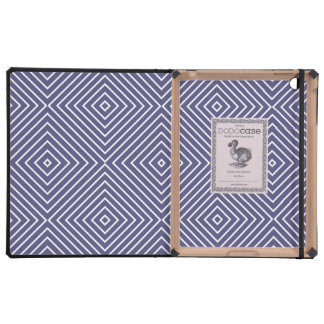 Purple Geometric Squares Case For iPad
