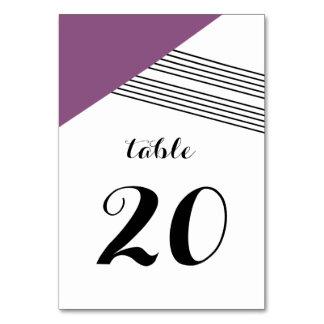 Purple Geometric Stripe Table Card