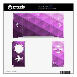 Purple Geometric Trangle Pattern Skin For The 3DS