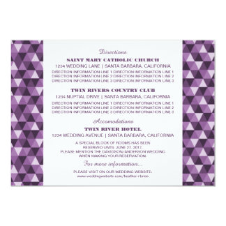 Purple Geometric Triangles Information Card
