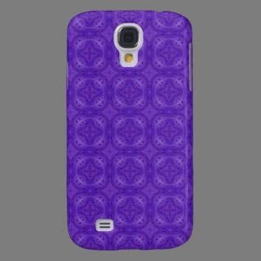 Purple geometric wood pern samsung galaxy s4 cover