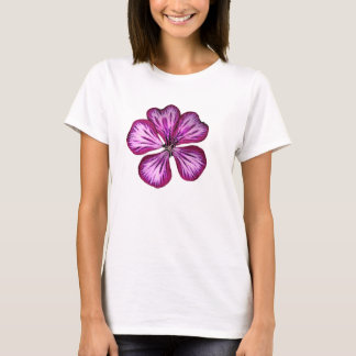 Purple geranium flower T-Shirt
