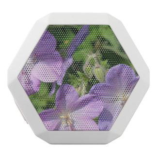 Purple Geranium Flowers White Boombot Rex Bluetooth Speaker