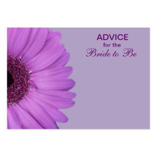 Purple Gerber Daisy Advice for the Bride Business Card Templates
