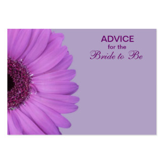 Purple Gerber Daisy Advice for the Bride Large Business Card