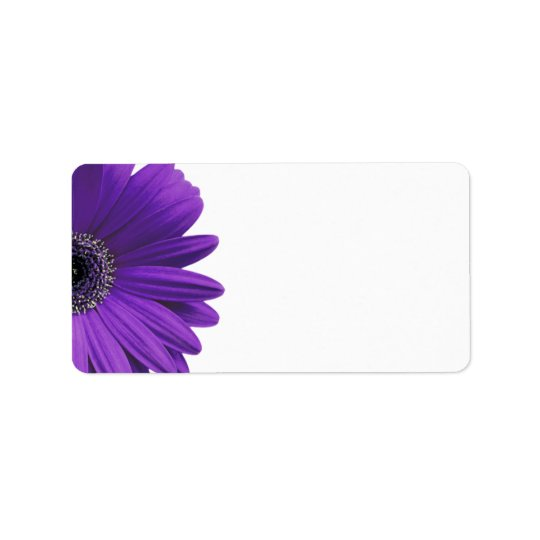 purple gerbera daisy blank wedding address labels zazzle com