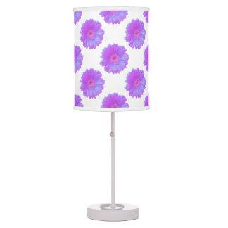 Purple gerbera daisy table lamp