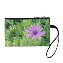Purple Gerbera Floral Coin and Change Purse at Zazzle