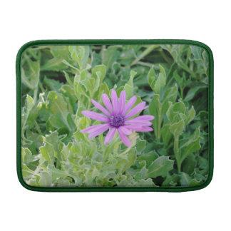 """Purple Gerbera Floral Macbook Air 13"""" Sleeve"""
