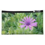 Purple Gerbera Floral Makeup Cosmetic Bag (Medium) at Zazzle