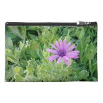 Purple Gerbera Floral Travel Accessories Bag at Zazzle